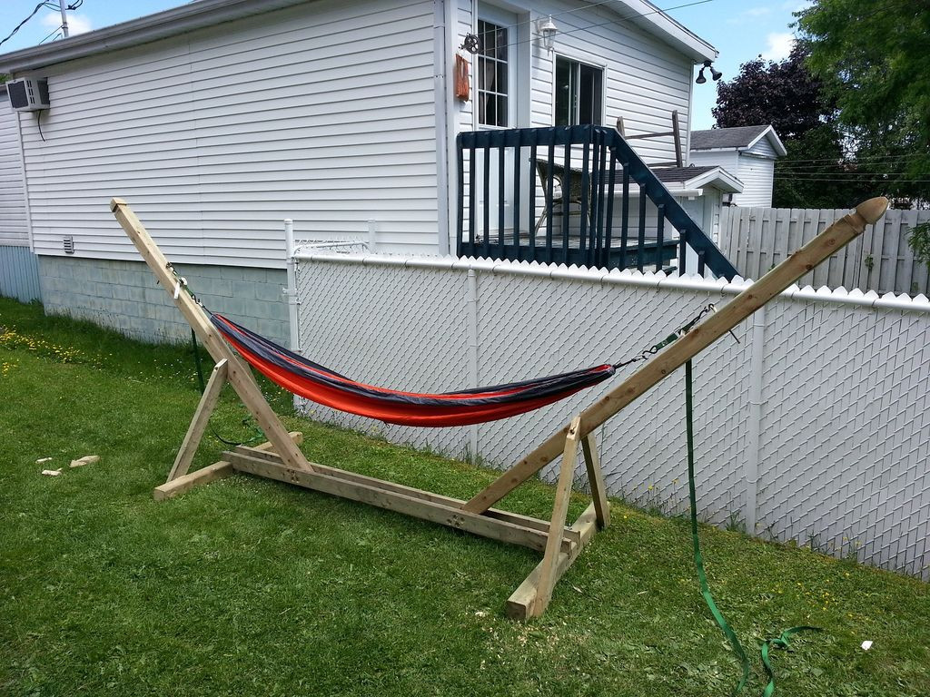 Best ideas about DIY Hammock Stand Plans . Save or Pin DIY Hammock Stand 3 Steps with Now.
