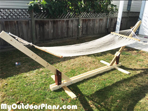 Best ideas about DIY Hammock Stand Plans . Save or Pin DIY Wood Hammock Stand Plans MyOutdoorPlans Now.