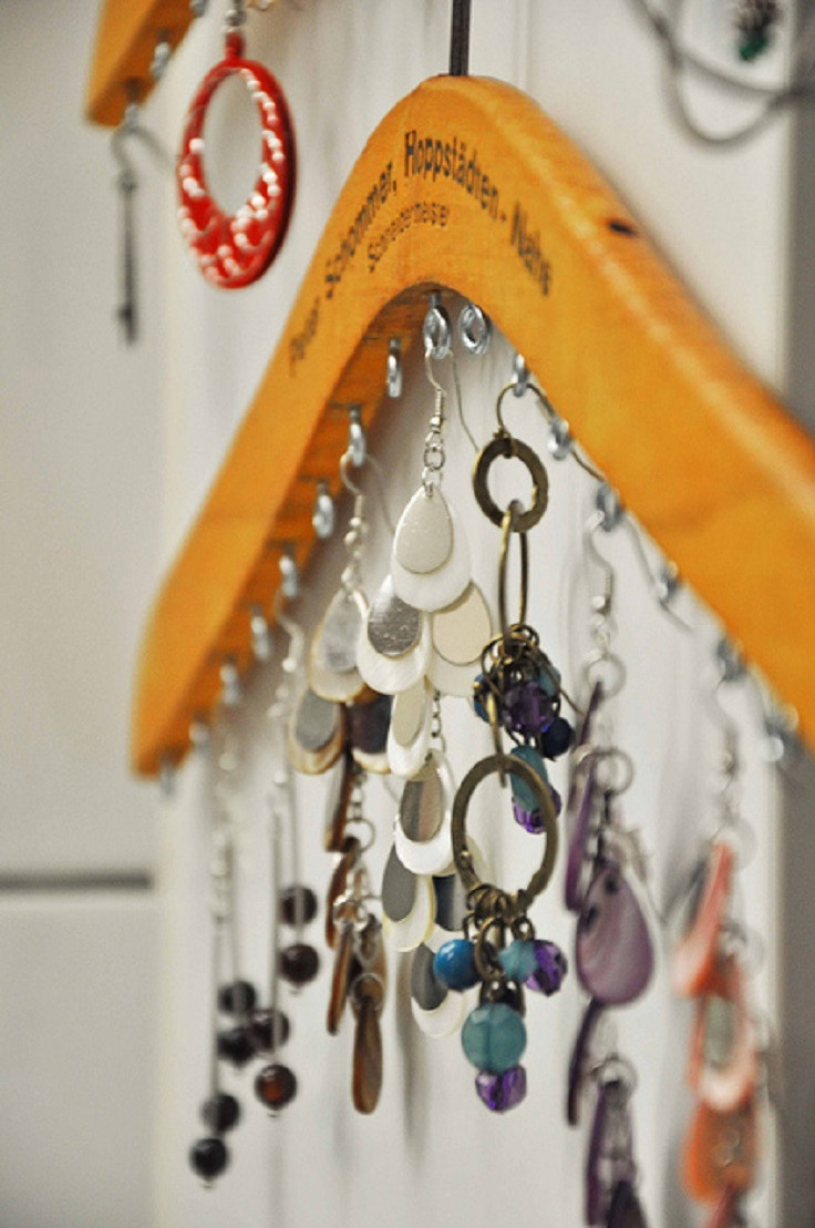 Best ideas about DIY Hanger Organizer . Save or Pin Top 10 Ways To Store Jewelry Top Inspired Now.