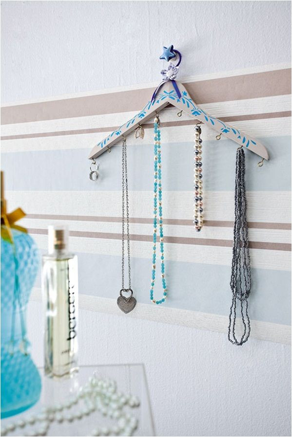 Best ideas about DIY Hanger Organizer . Save or Pin diy jewelry organizer hanging necklaces clothes hanger Now.