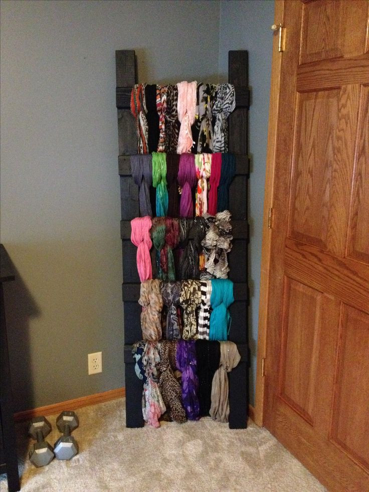 Best ideas about DIY Hanger Organizer . Save or Pin 25 best ideas about Scarf storage on Pinterest Now.
