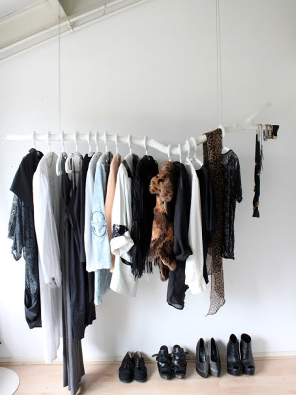 Best ideas about DIY Hanging Clothing Rack . Save or Pin Chic DIY Clothes Rack Ideas Now.