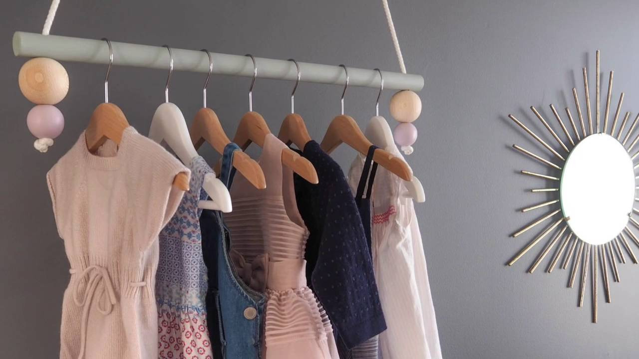 Best ideas about DIY Hanging Clothing Rack . Save or Pin DIY hanging clothing rack Now.