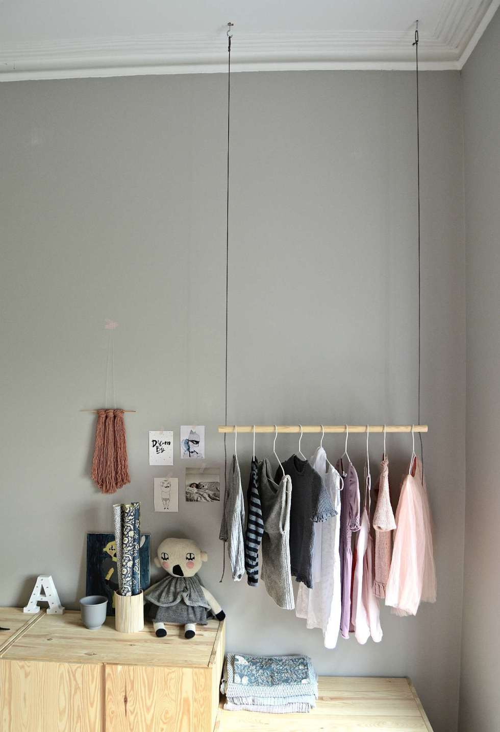 Best ideas about DIY Hanging Clothing Rack . Save or Pin Hang on With this DIY hanging clothes rack DIY home Now.
