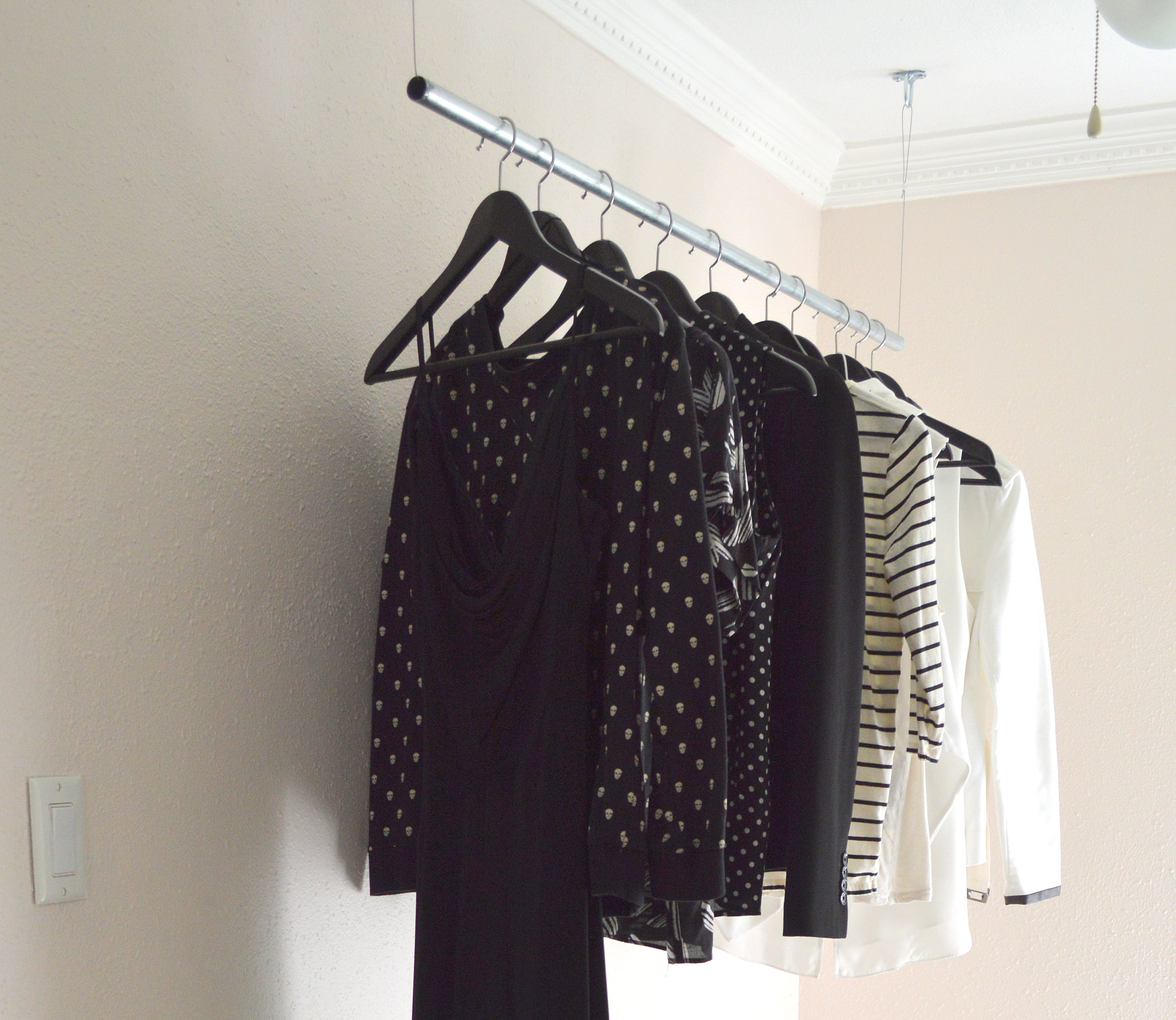 Best ideas about DIY Hanging Clothing Rack . Save or Pin DIY HANGING CLOTHES RACK Now.