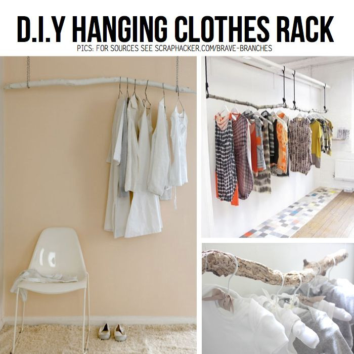 Best ideas about DIY Hanging Clothing Rack . Save or Pin 17 Best ideas about Hanging Clothes Racks on Pinterest Now.