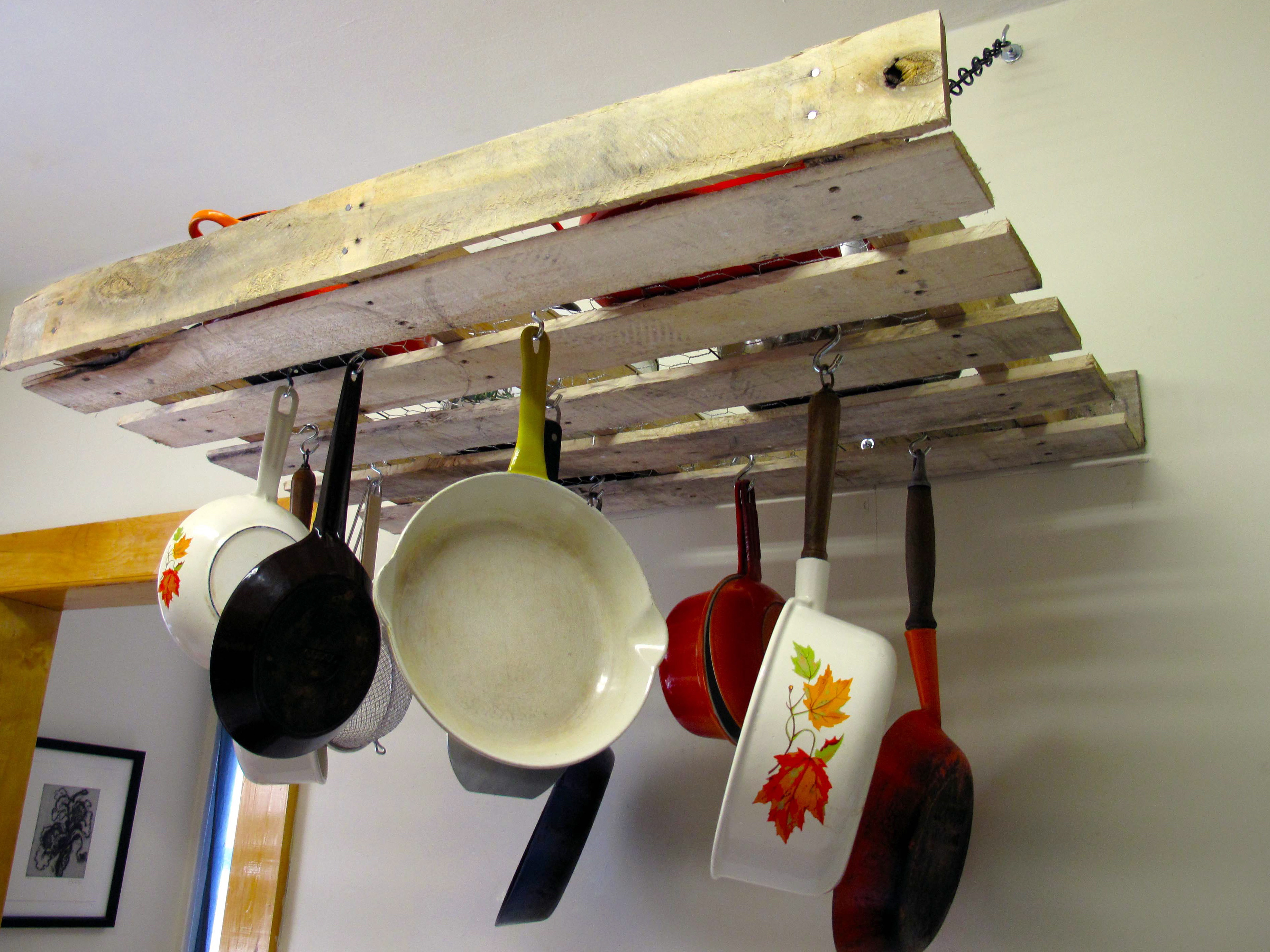 Best ideas about DIY Hanging Pot Racks . Save or Pin Home Improvements Pallet Pot Rack Now.