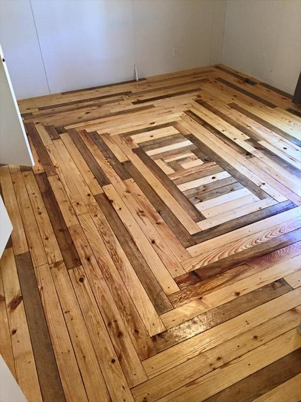 Best ideas about DIY Hardwood Floor Install . Save or Pin Pallet flooring – upcycling ideas to have a beautiful Now.
