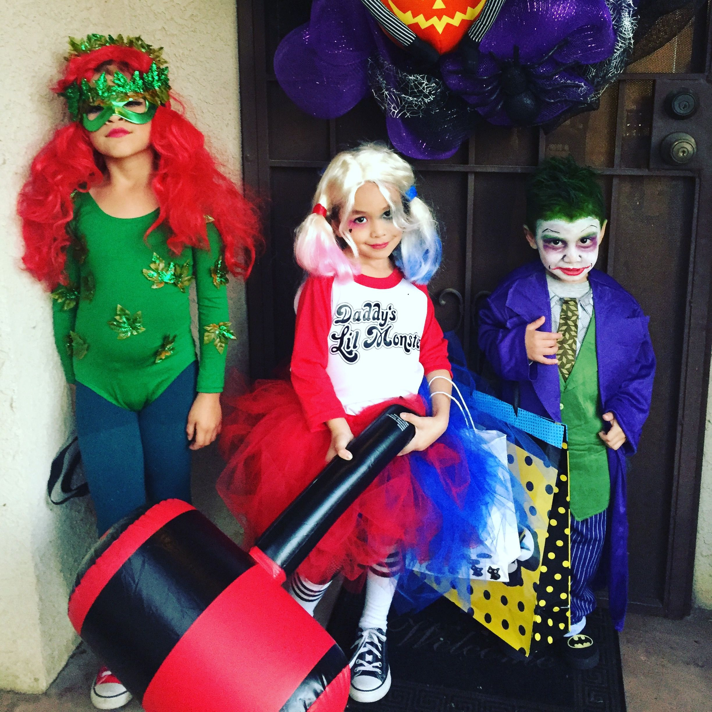 Best ideas about DIY Harley Quinn Costume For Kids . Save or Pin Poison Ivy Harley Quinn and Joker batman villians Now.