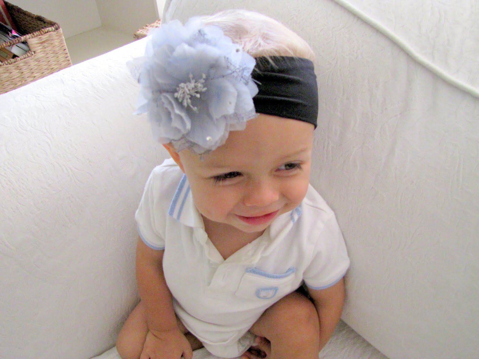 Best ideas about DIY Headband Baby . Save or Pin Nylon Baby Headband with Flower Clip TUTORIAL craft Now.