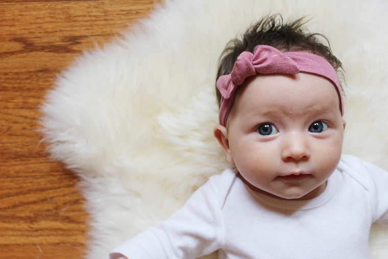 Best ideas about DIY Headbands For Baby . Save or Pin DIY Jersey Knit Baby Headband Now.