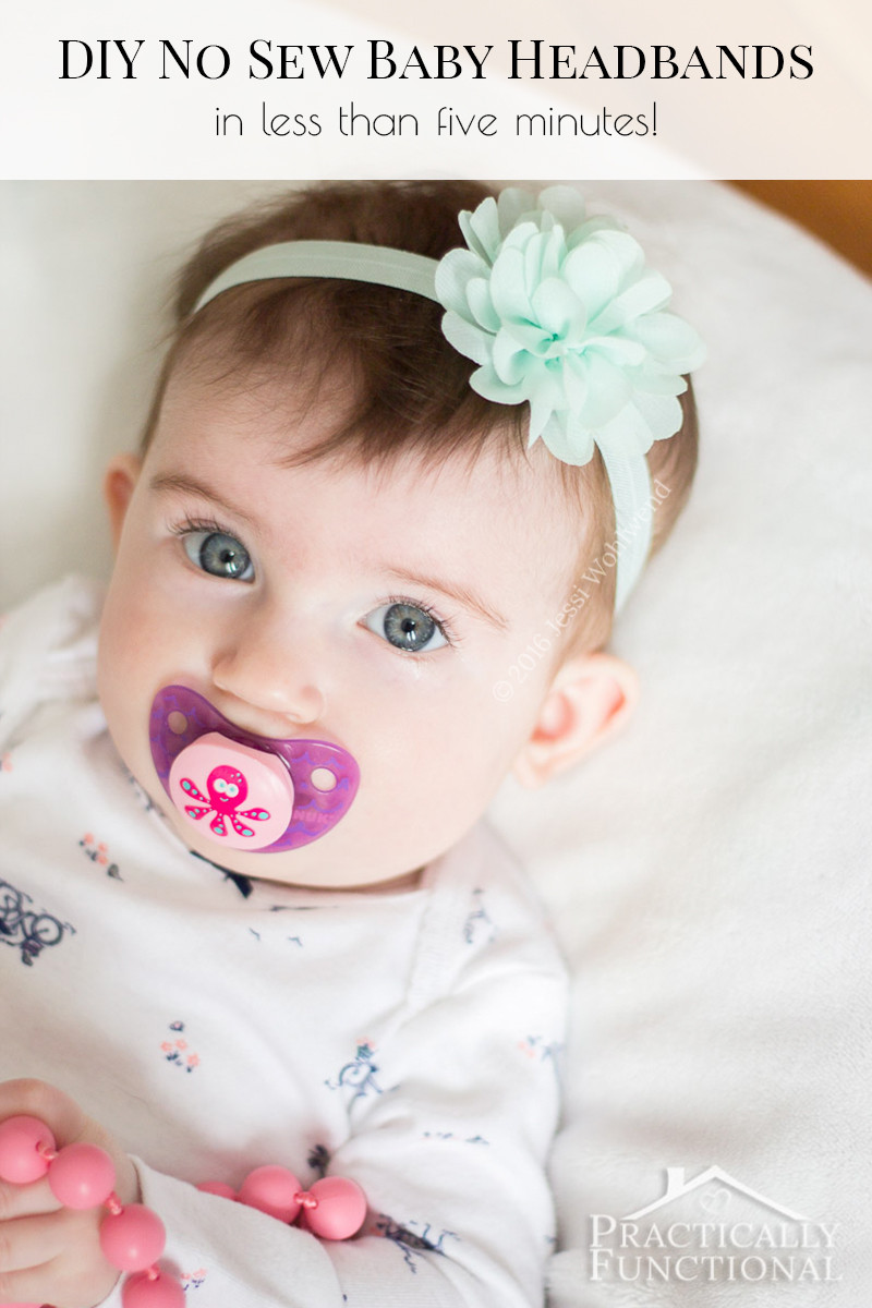 Best ideas about DIY Headbands For Baby . Save or Pin DIY No Sew Baby Flower Headbands Now.