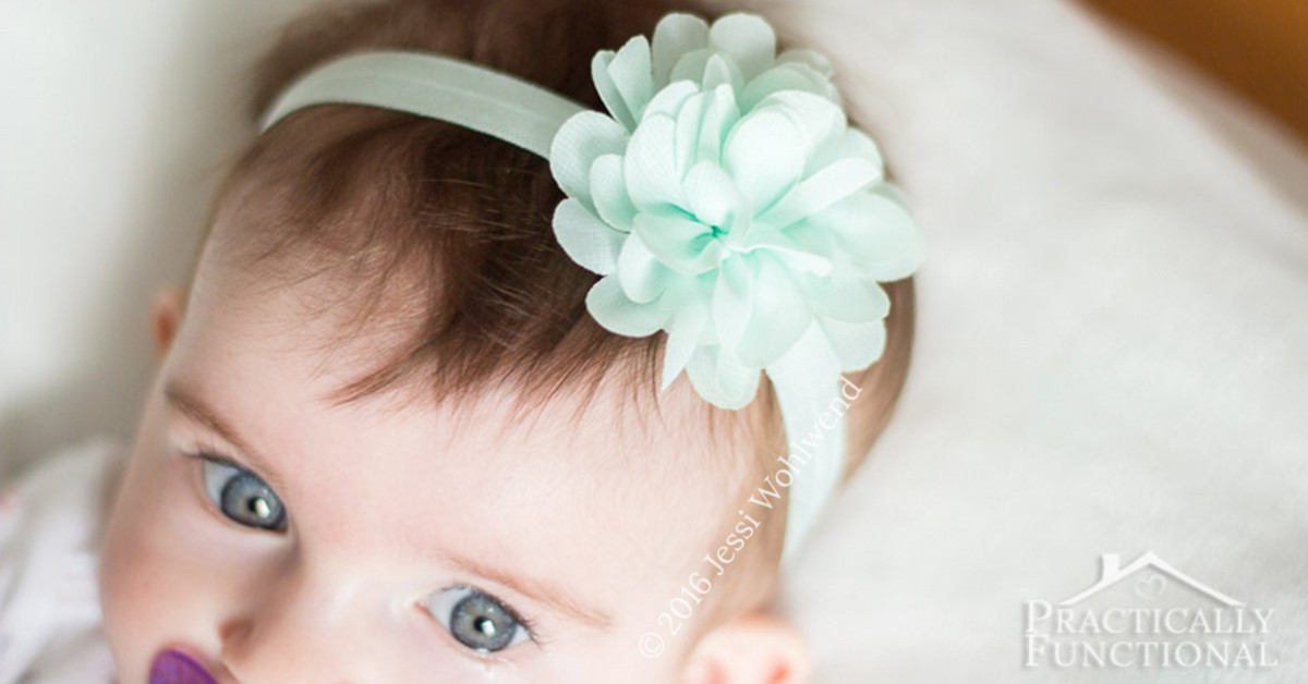 Best ideas about DIY Headbands For Baby . Save or Pin How To Make DIY Baby Flower Headbands no sewing required Now.