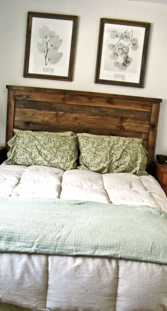 Best ideas about DIY Headboards For Queen Beds . Save or Pin First Project reclaimed wood look Queen headboard made Now.