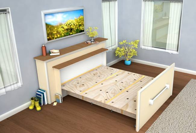 Best ideas about DIY Hide A Bed . Save or Pin Live in a tiny house Build a DIY built in roll out bed Now.