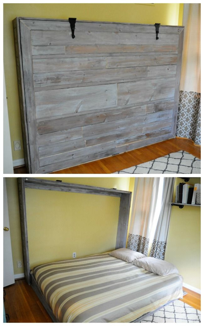 Best ideas about DIY Hide A Bed . Save or Pin murphy bed diy Now.