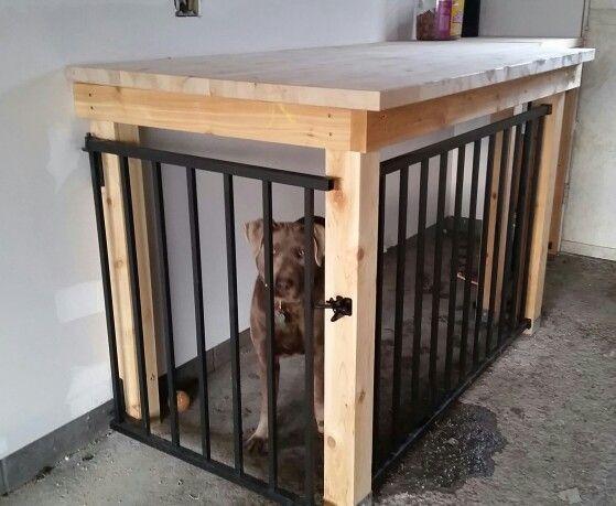 Best ideas about DIY Indoor Dog Kennel . Save or Pin Garage dog kennel workbench Now.