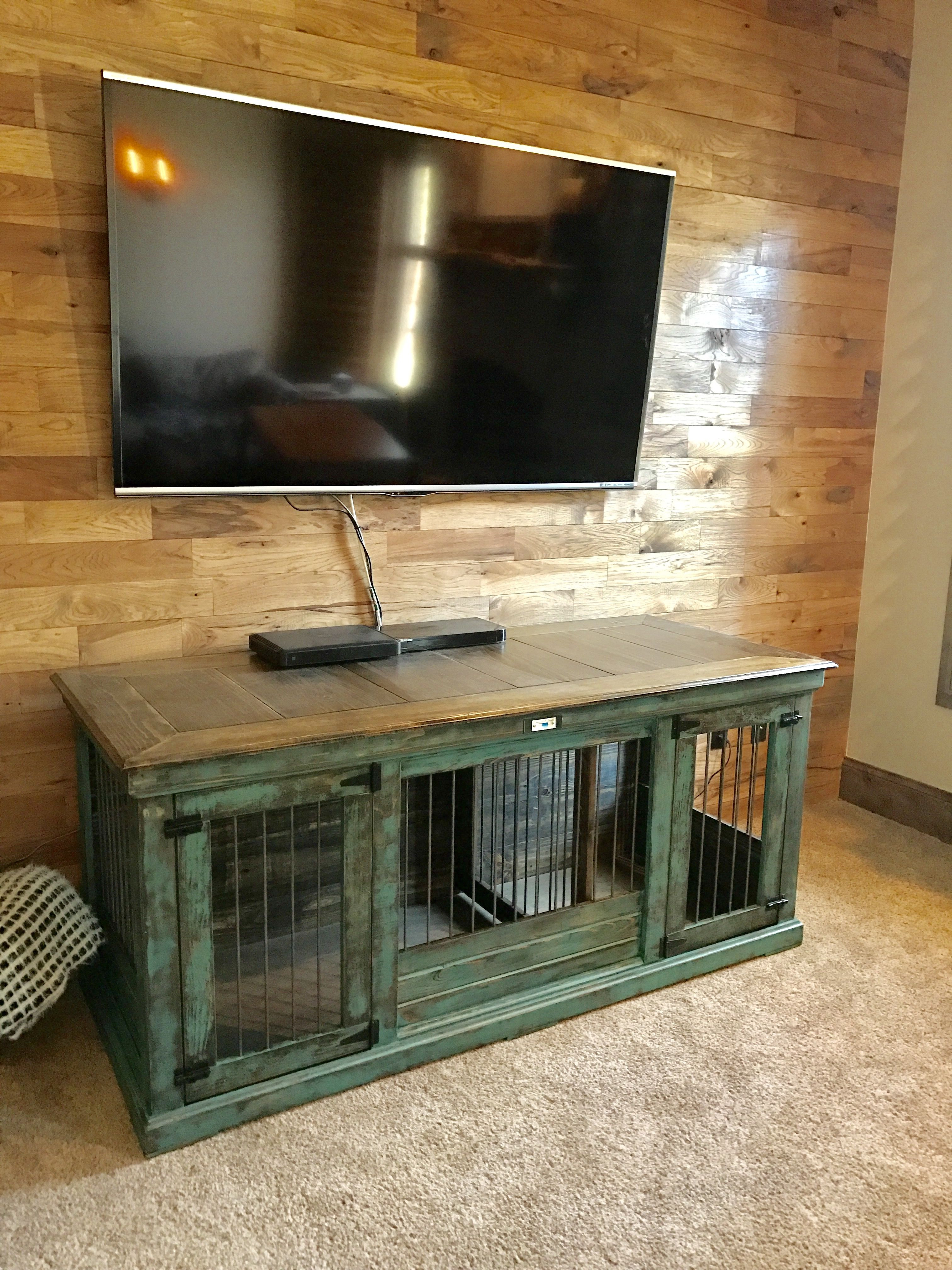 Best ideas about DIY Indoor Dog Kennel . Save or Pin Turquoise distressed double indoor dog kennel Our double Now.