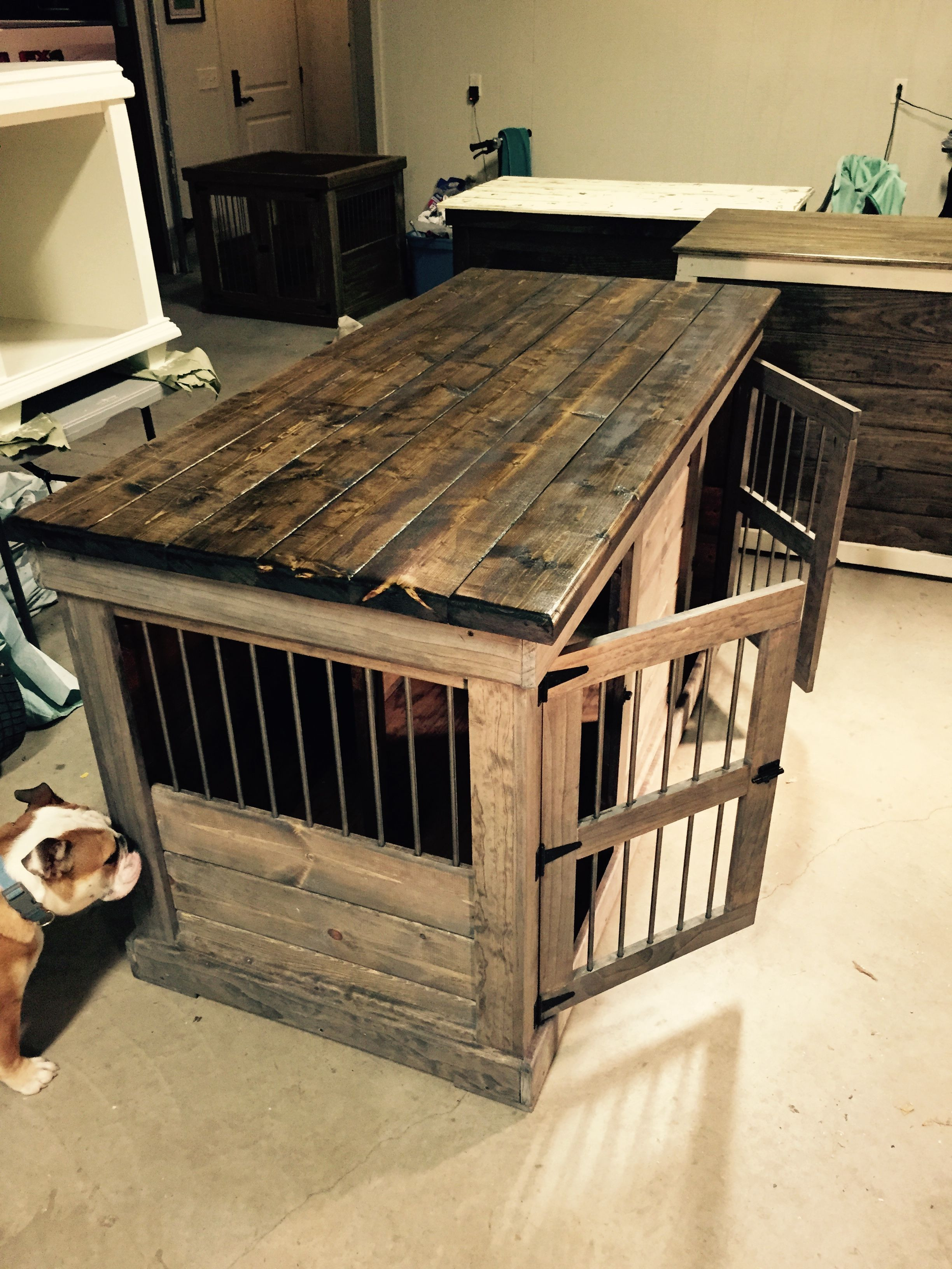 Best ideas about DIY Indoor Dog Kennel . Save or Pin Handcrafted dog kennel and dog crate Custom dog kennel Now.