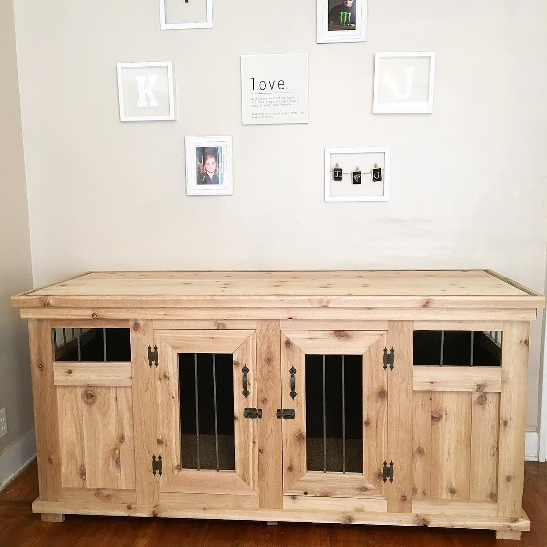 Best ideas about DIY Indoor Dog Kennel Plans . Save or Pin jroskam and I built a dog kennel Solid wood with metal Now.