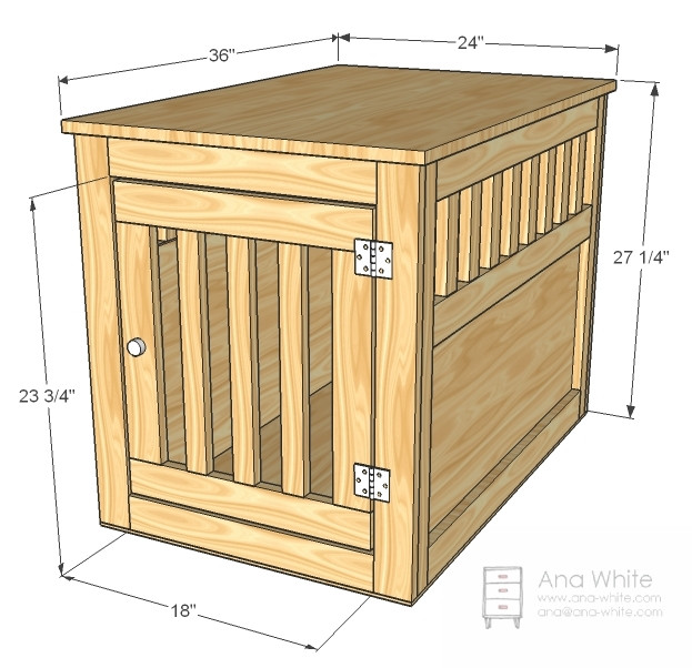 Best ideas about DIY Indoor Dog Kennel Plans . Save or Pin Ana White Now.