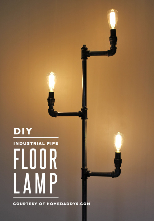 Best ideas about DIY Industrial Floor Lamp . Save or Pin How to make an industrial pipe floor lamp Now.
