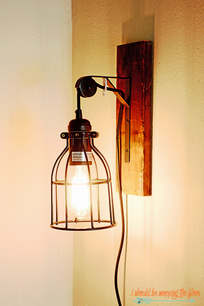 Best ideas about DIY Industrial Floor Lamp . Save or Pin I Should Be Mopping The Floor DIY Industrial Light Fixture Now.