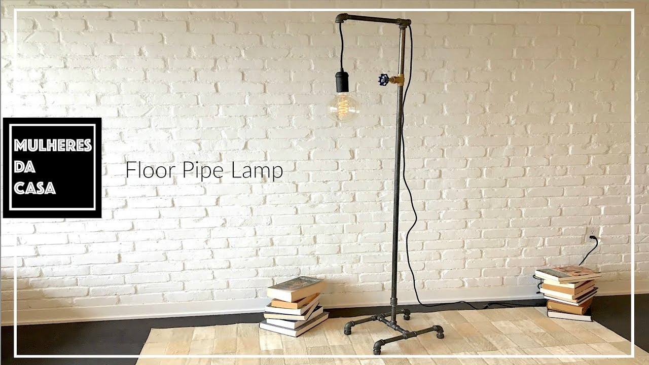 Best ideas about DIY Industrial Floor Lamp . Save or Pin DIY Industrial Floor Pipe Lamp Now.