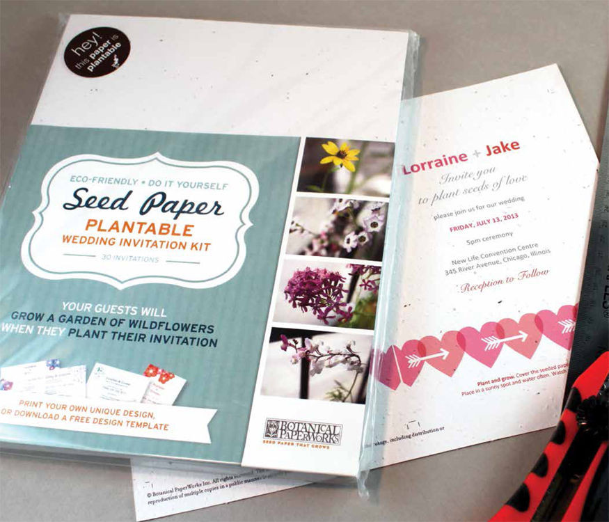 Best ideas about DIY Invitations Kits . Save or Pin Do It Yourself DIY Seeded Paper Plantable Invitation Kit Now.