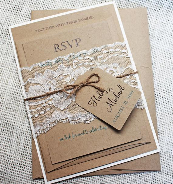 Best ideas about DIY Invitations Kits . Save or Pin DIY Printable invitation Rustic Wedding Invitation Eco Now.