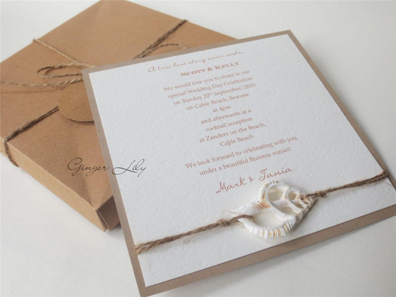 Best ideas about DIY Invitations Kits . Save or Pin Wedding Invitation DIY Kit Vintage Beach Makes 25 Now.