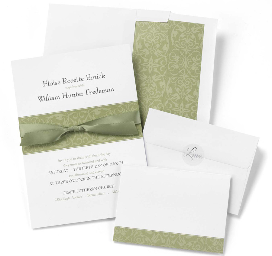 Best ideas about DIY Invitations Kits . Save or Pin Olive Band DIY Wedding Invitation Kits Now.