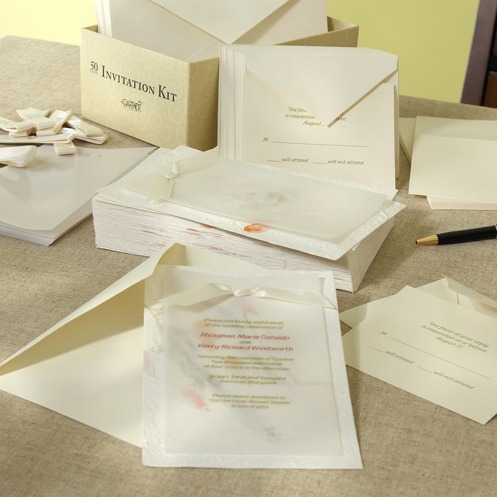 Best ideas about DIY Invitations Kits . Save or Pin Ivory Natural Beauty Handmade Paper DIY Invitation Kit Now.
