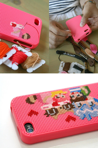 Best ideas about DIY Iphone Case Kit . Save or Pin DIY Cross Stitched iPhone Covers Now.