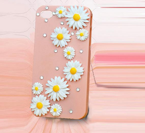 Best ideas about DIY Iphone Case Kit . Save or Pin Items similar to Yellow white Flower diy deco phone case Now.