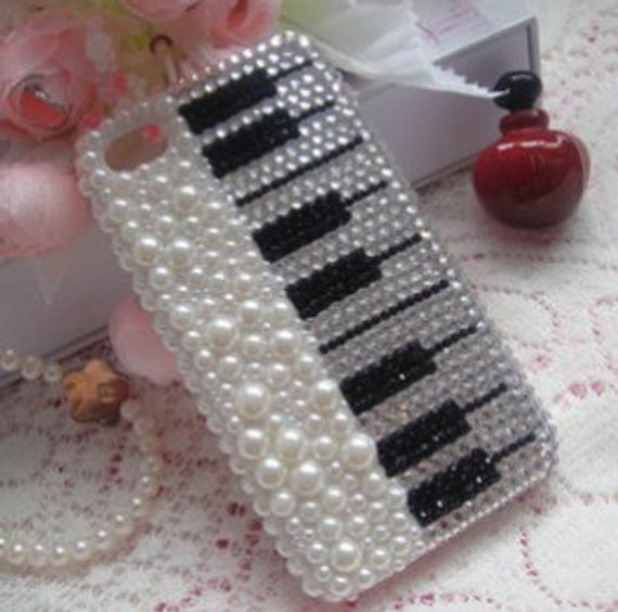 Best ideas about DIY Iphone Case Kit . Save or Pin Items similar to Pearl Diamond Piano DIY deco phone case Now.
