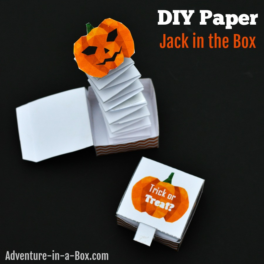 Best ideas about DIY Jack In The Box . Save or Pin Jack in the Box Paper Toy with a Free Printable Template Now.