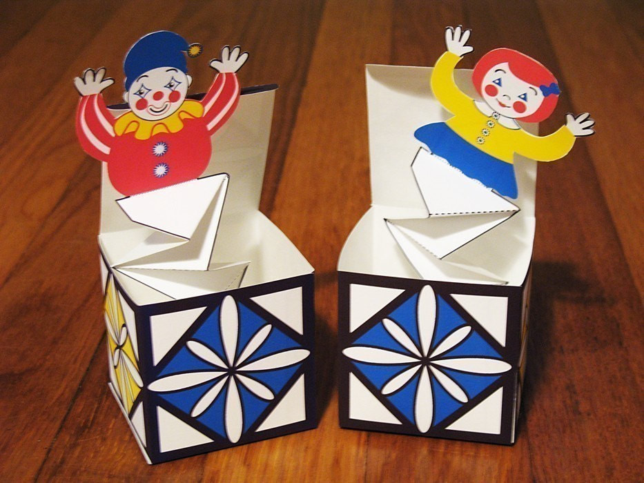 Best ideas about DIY Jack In The Box . Save or Pin Jack in the Box Pop Up DIY PDF Toy Crafts by AmyPerrotti Now.