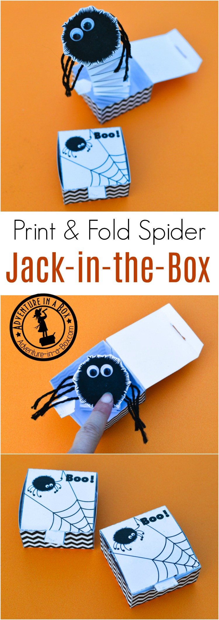Best ideas about DIY Jack In The Box . Save or Pin Spider Jack in the Box Free Printable Toy Now.