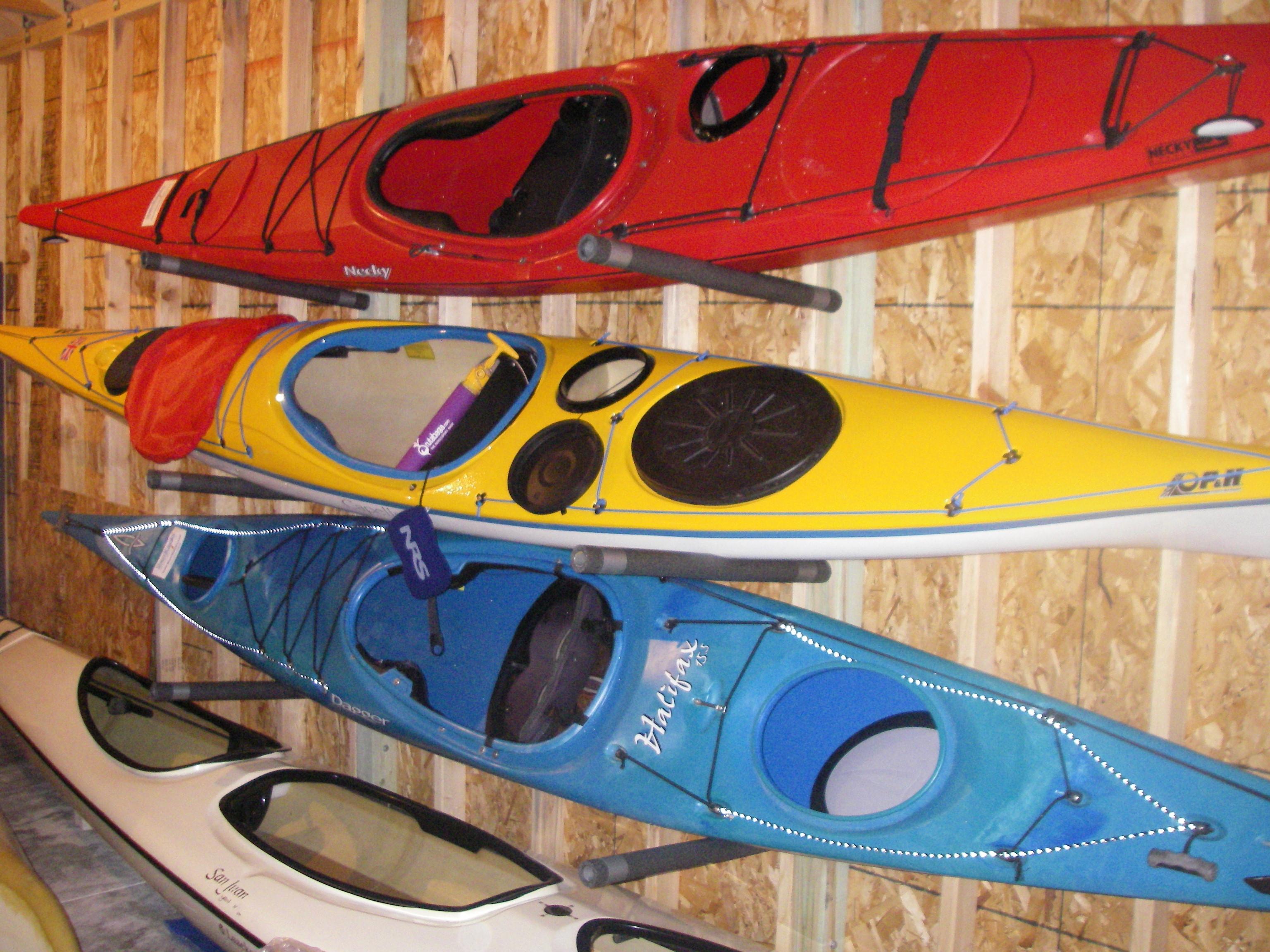 Best ideas about DIY Kayak Rack Garage . Save or Pin High Quality Kayak Racks For Garage 5 Diy Garage Kayak Now.