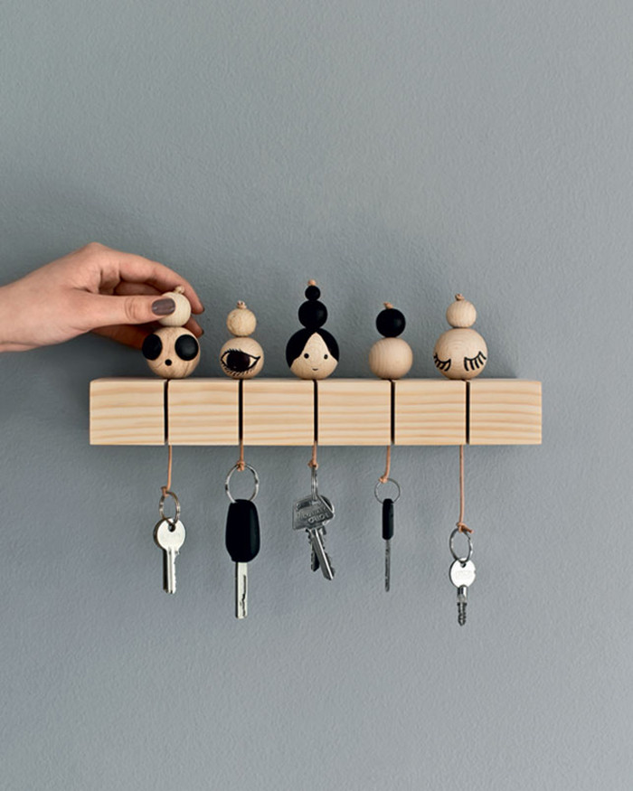 Best ideas about DIY Key Organizer . Save or Pin DIY to try Key chain Ohoh Blog Now.