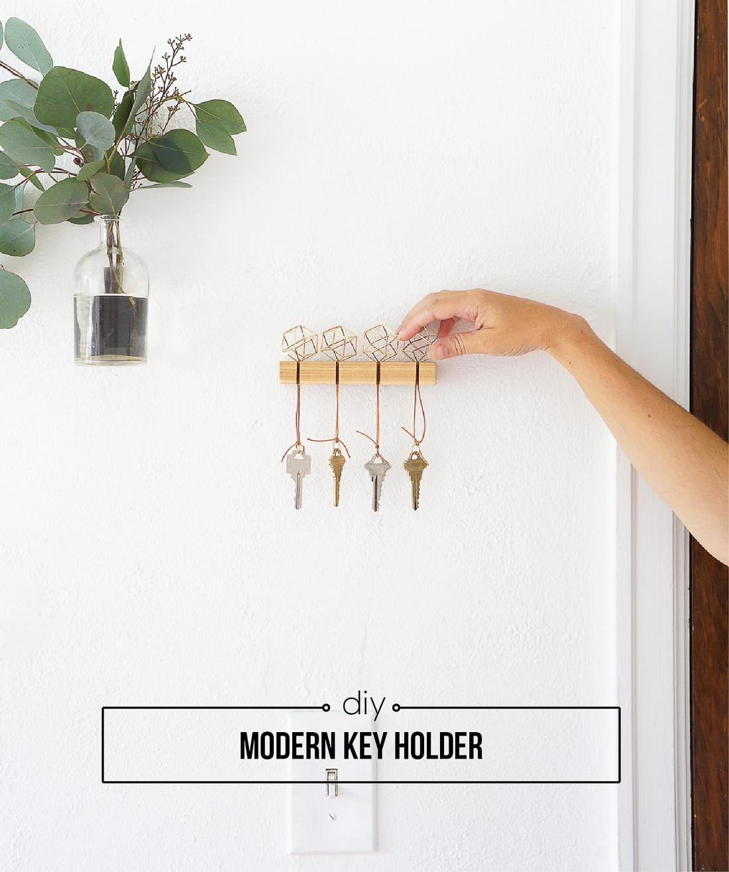 Best ideas about DIY Key Organizer . Save or Pin DIY Modern Key Holder Francois et Moi Now.