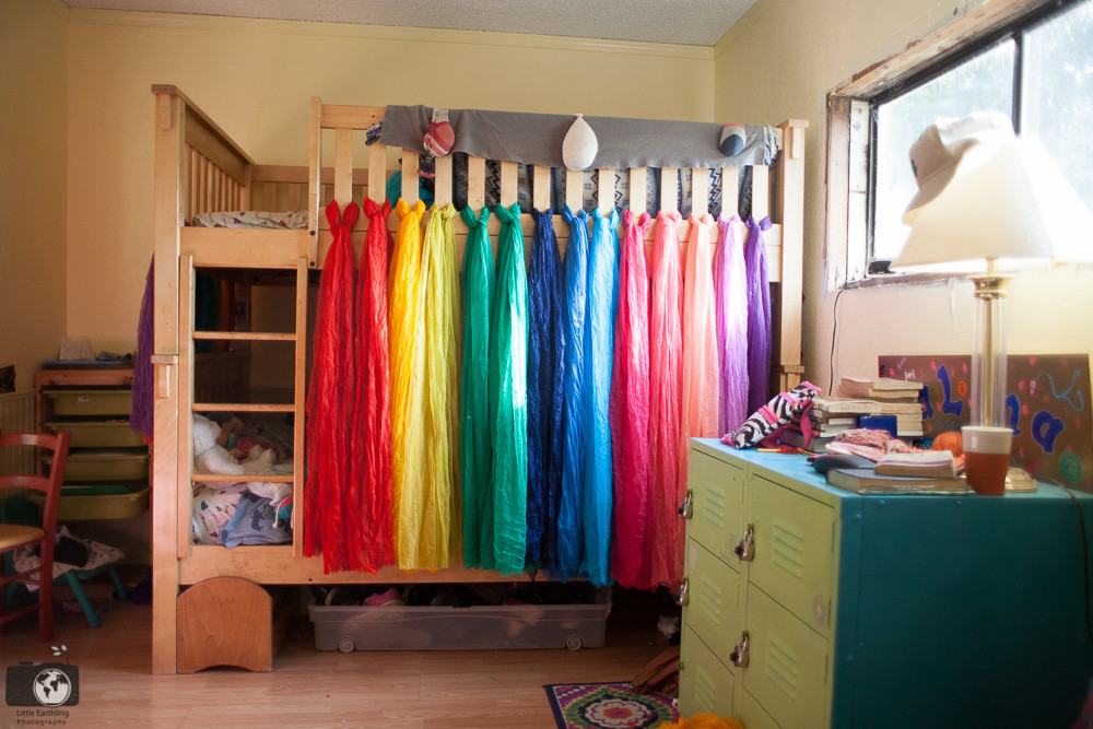 Best ideas about DIY Kids Bed Canopy . Save or Pin DIY Rainbow Bed Canopy for Bunk Beds Now.
