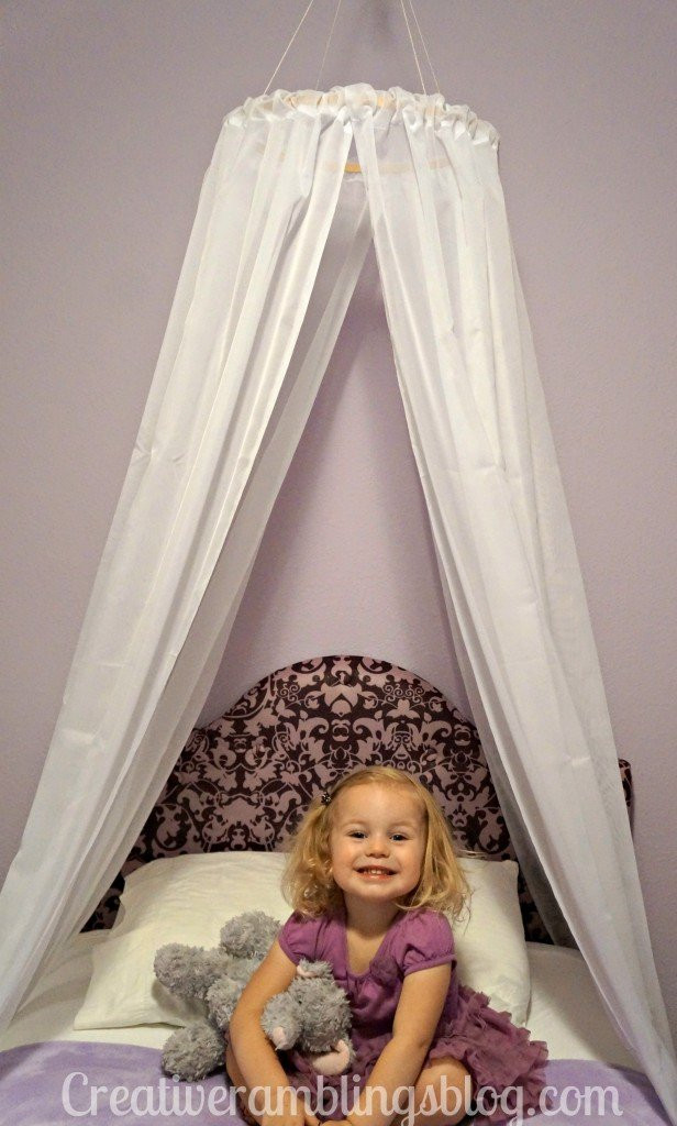 Best ideas about DIY Kids Bed Canopy . Save or Pin Easy DIY Princess Canopy Creative Ramblings Now.