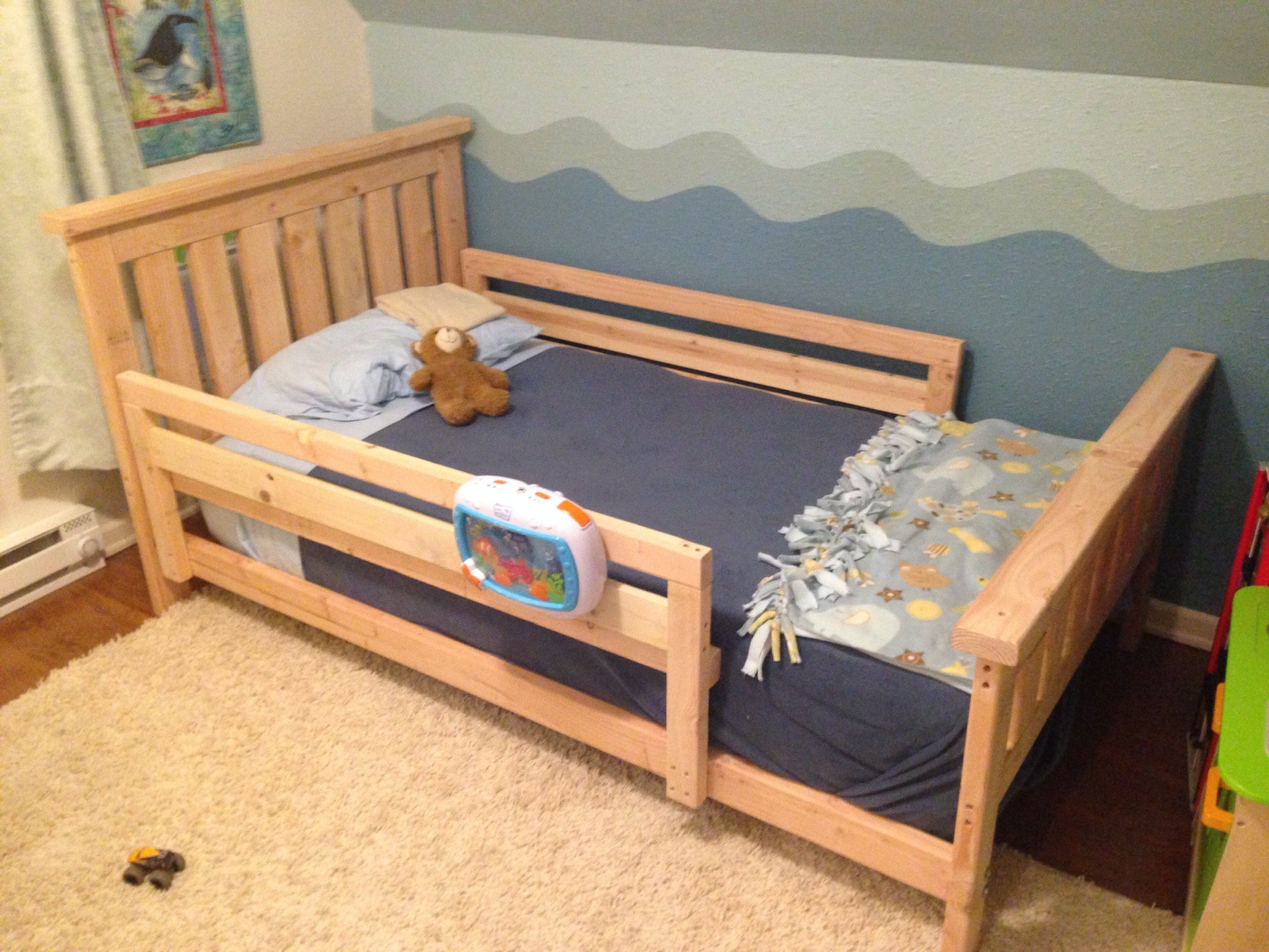 Best ideas about DIY Kids Bed Frame . Save or Pin DIY 2x4 Bed Frame bebos shared room Now.