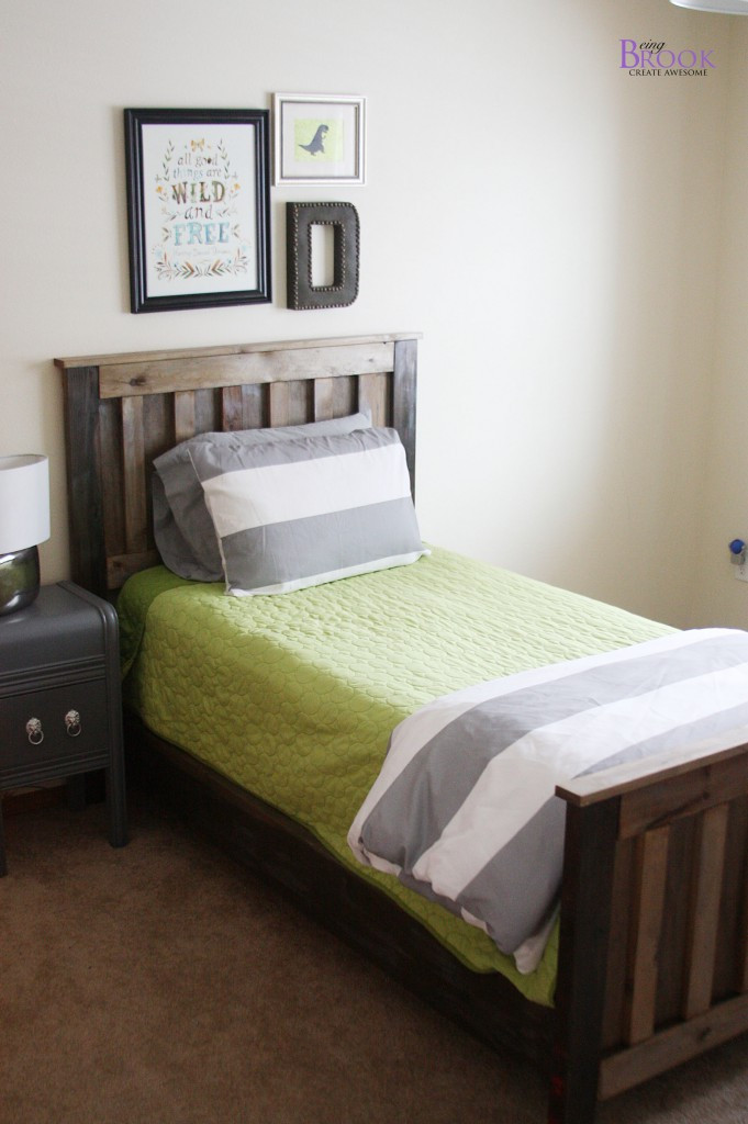 Best ideas about DIY Kids Bed Frame . Save or Pin DIY Ana White Twin Bed Rustic aged finish Now.