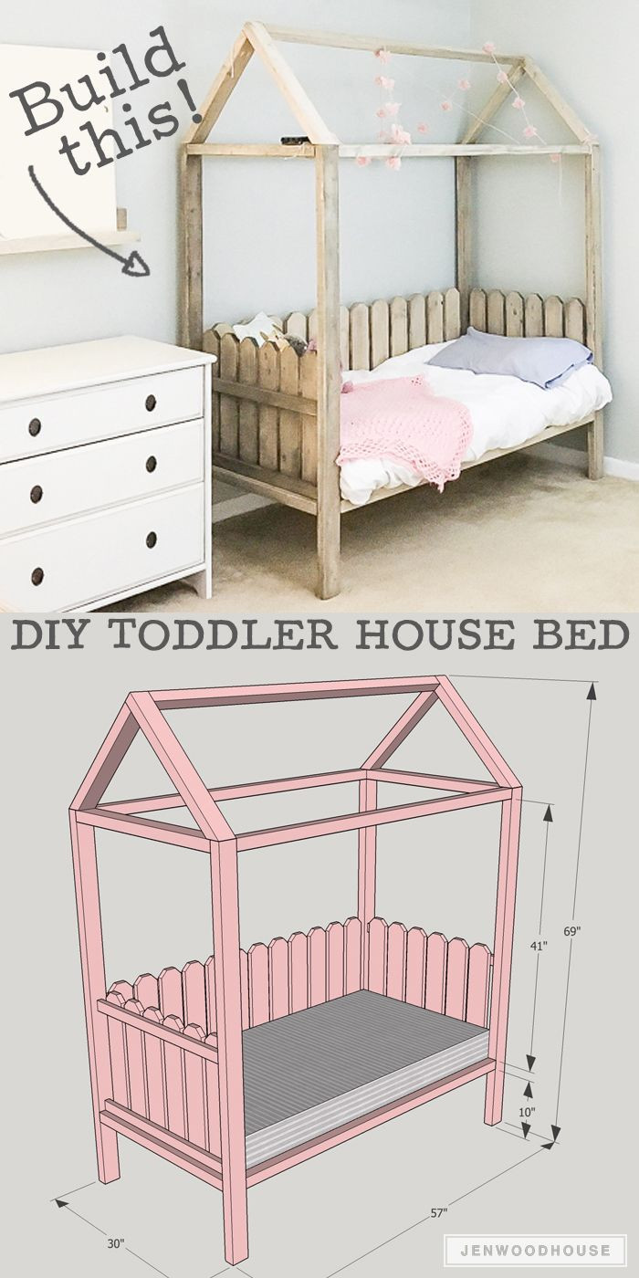 Best ideas about DIY Kids Bed Frame . Save or Pin DIY Toddler House Bed Crazy for DIY Now.