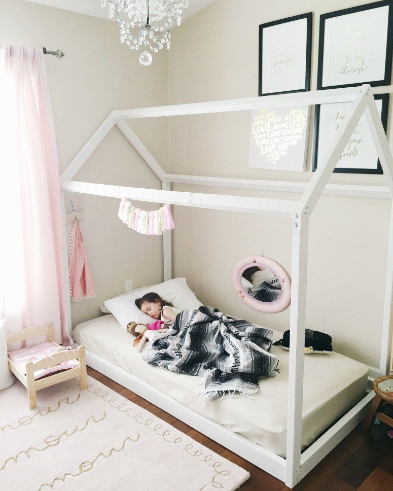 Best ideas about DIY Kids Bed Frame . Save or Pin DIY House Frame Floor Bed Plan Oh Happy Play Now.