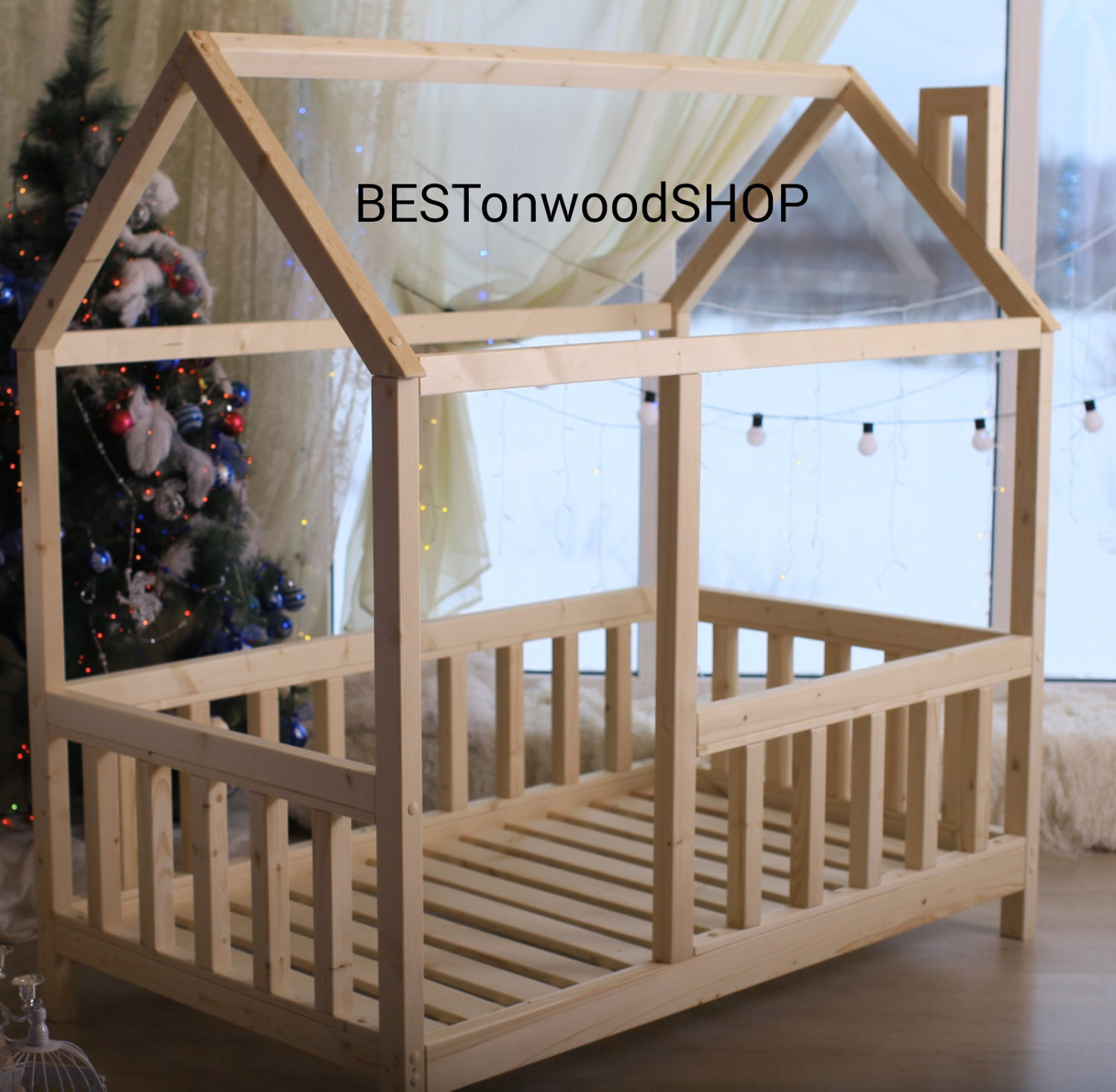 Best ideas about DIY Kids Bed Frame . Save or Pin cm house bed tent bed wooden house wood Now.