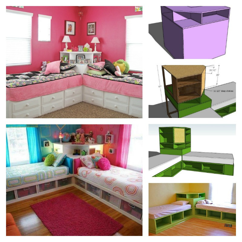 Best ideas about DIY Kids Bed With Storage . Save or Pin DIY Corner Unit for the Twin Storage Bed Space Saving Idea Now.